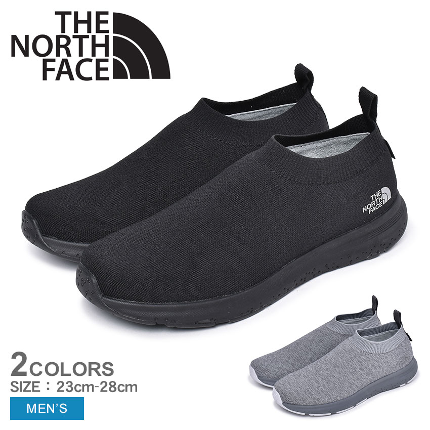 THE NORTH FACE ザ ノースフェイス スニーカー ベロシティ ニット ゴアテックス インビジブルフィット VELOCITY KNIT GORE-TEX INVISIBLE FIT NF51998 靴 スリッポン メンズ ブラック グレー 黒 防水