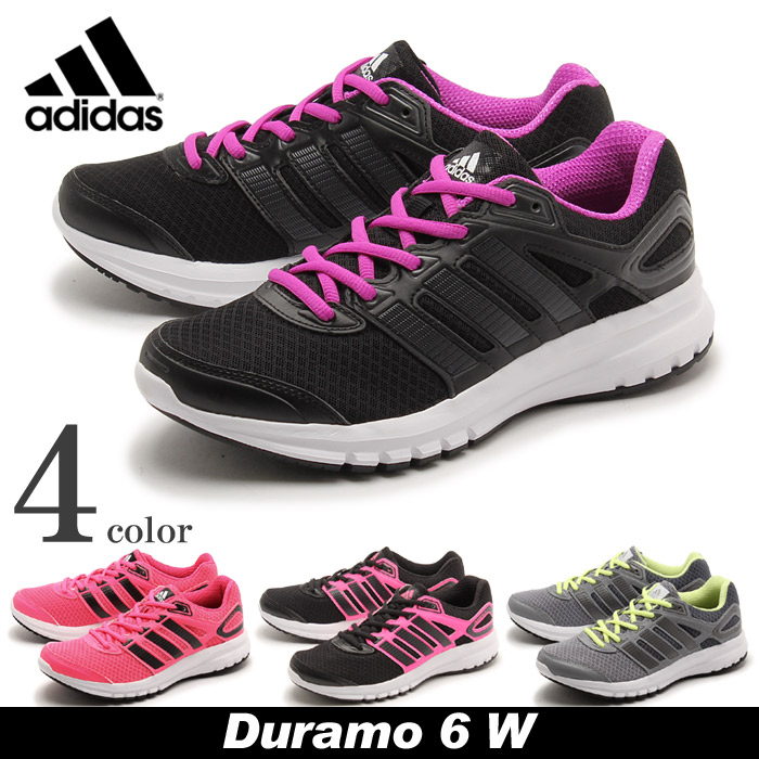 Adidas adidas running shoes Durmo 6 W Black all 4 color ADIDAS DURAMO 6 W  B39761 B39764 B39762 B39763 casual shoes sneakers women (for women)