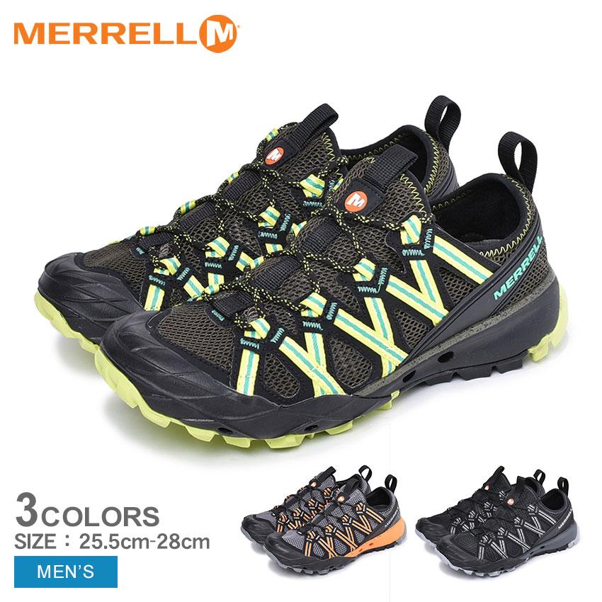 MERRELL メレル トレッキングシューズ チョップロック CHOPROCK 48675 48695 99565 メンズ ブラック グリーン オレンジ 黒 靴 シューズ スニーカー カジュアルシューズ アウトドア スポーツ 運動 登山 山登り 水陸両用