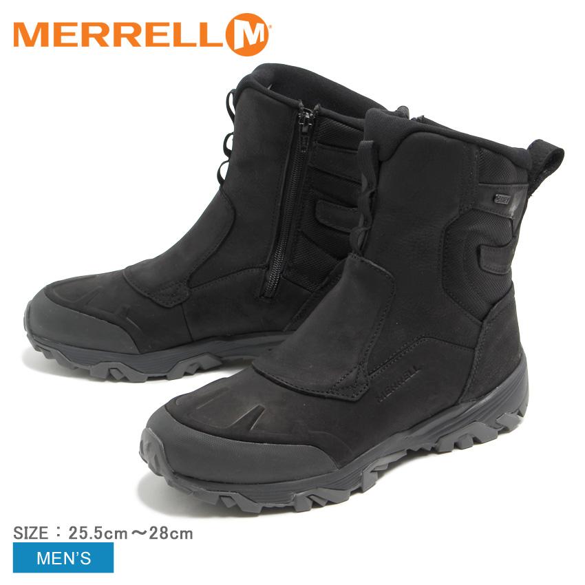 MERRELL メレル ブーツ ブラック コールドパックアイス プラス8 ジップ ポーラー ウォータープルーフ COLD PACK ICE PLUS 8 ZIP POLAR WATER PROOF J92025 メンズ