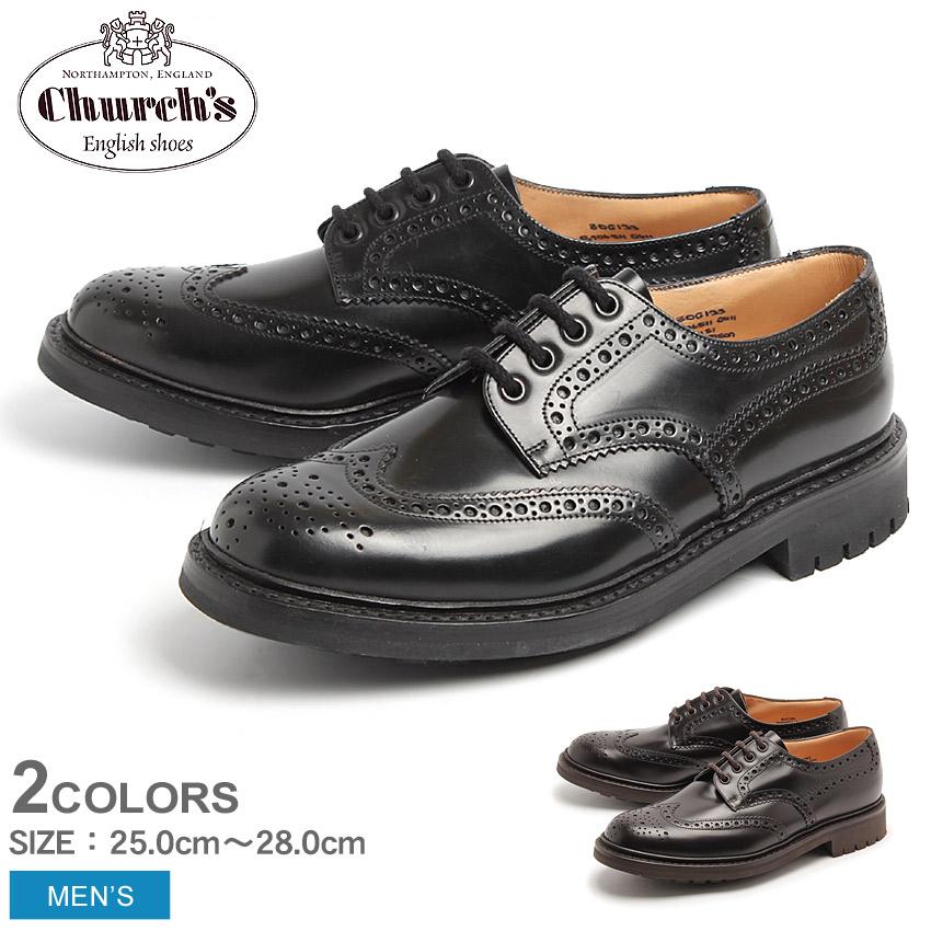 チャーチ マクファーソン CHURCHS MCPHERSON ウイングチップ シューズ ブラック ブラウン 全2色CHURCH'S 6800-31 6800-34 BLACK BROWNメンズ 男性用 短靴 コマンドソール 紳士靴 カジュアルシューズ アウトドア