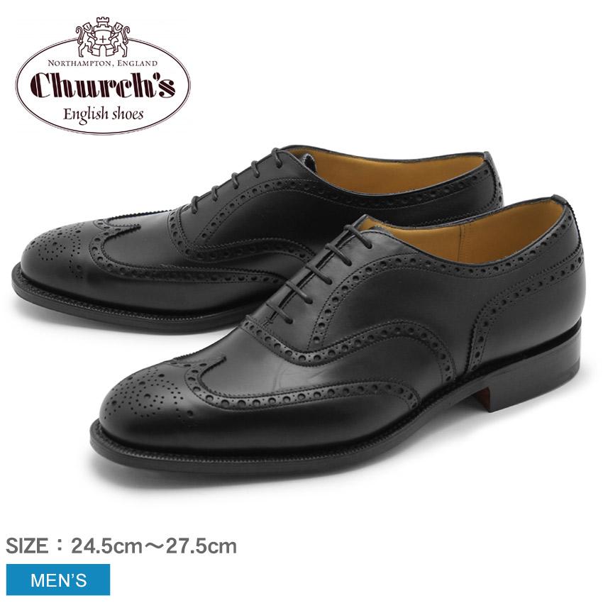 チャーチ CHURCHS ドレスシューズ チェットウィンド 173 ブラックCHURCH'S CHETWYND 173 CF16349507 EEB007靴 革靴 オックスフォードシューズ レザーシューズ ウィングチップ ブローグ 黒メンズ アウトドア