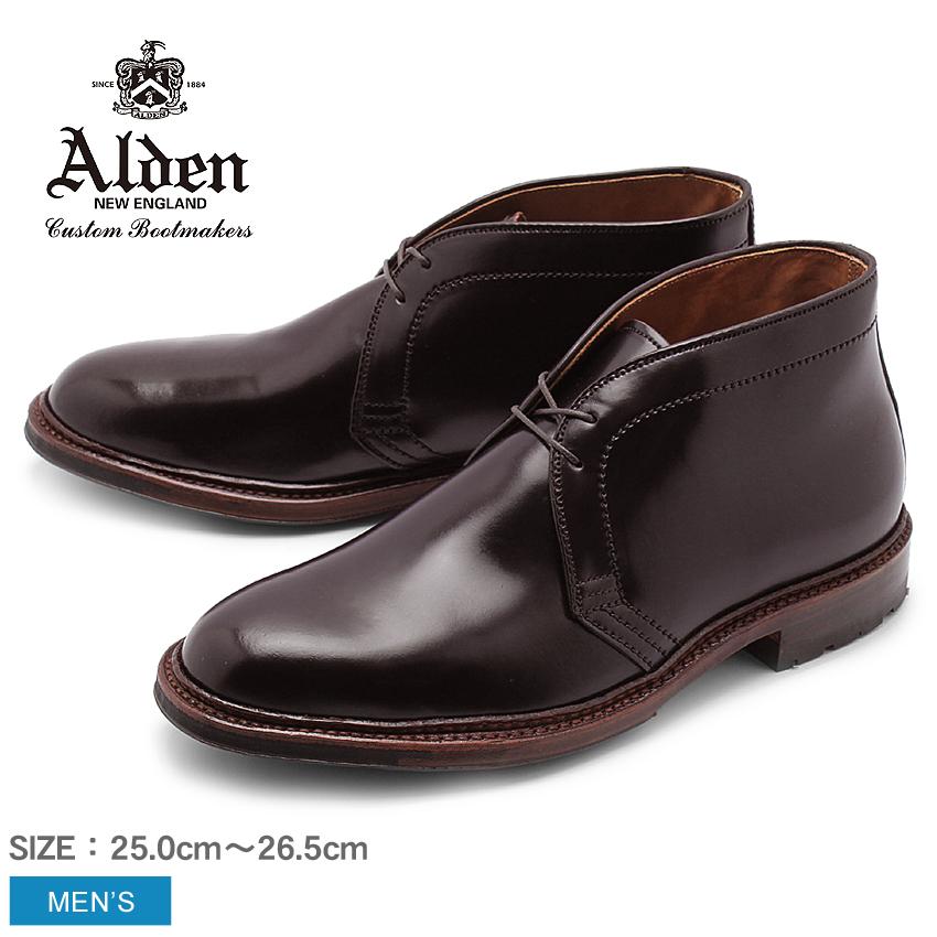 送料無料 紳士靴で不動の人気を誇るオールデンより王道チャッカブーツの登場! ALDEN オールデン ブーツ バーガンディー アンティーク チャッカーブーツ ANTIQUE CHUKKA BOOTS D5706C メンズ シューズ トラディショナル ビジネス フォーマル 革靴 紳士靴 茶