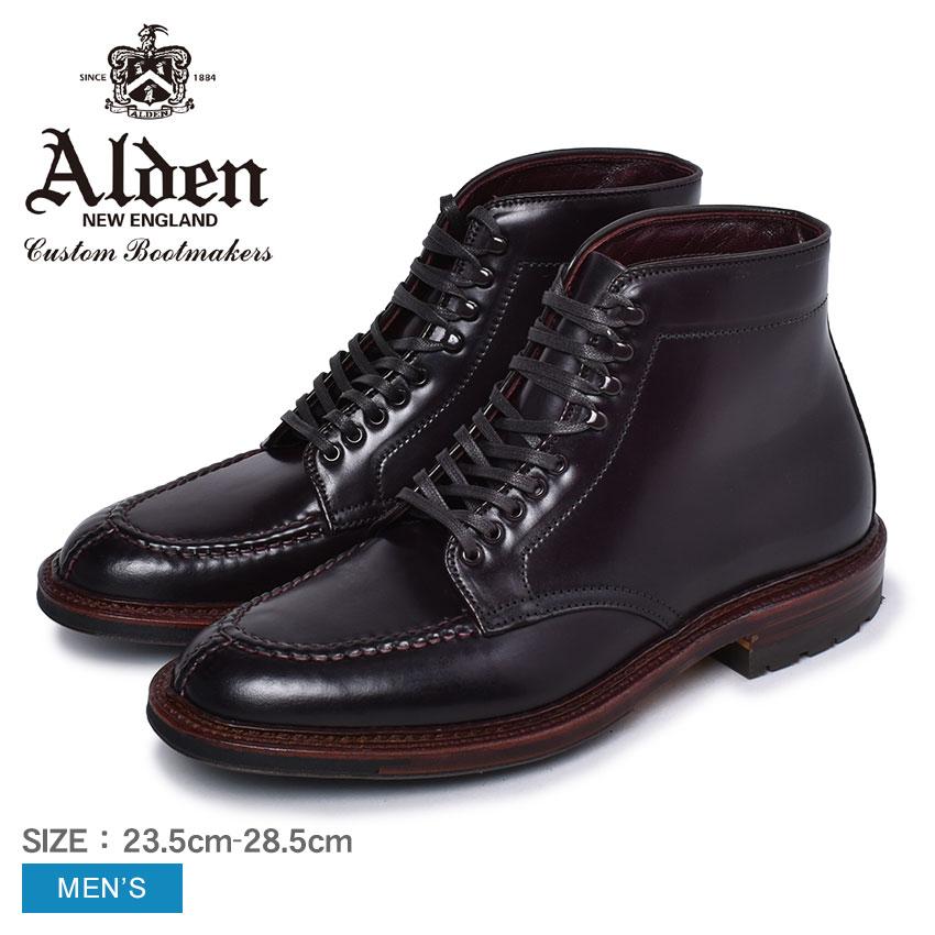 オールデン ブーツ メンズ タンカーブーツ ALDEN TANKER BOOT M6906 CY 靴 シューズ コードバン おしゃれ 人気 トラディショナル ビジネス フォーマル 馬革 革靴 靴 紳士靴 バーガンディ 赤