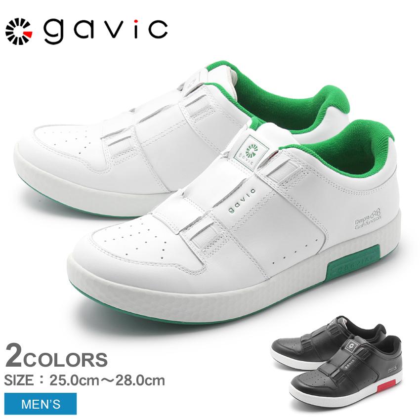 GAVIC LIFE STYLE ガビックライフスタイル スニーカー ウルド GVC014 BLK/RED WHT/GRN メンズ シューズ 靴 黒 白 スリッポン 通勤 通学 カジュアル シンプル レザー 本革