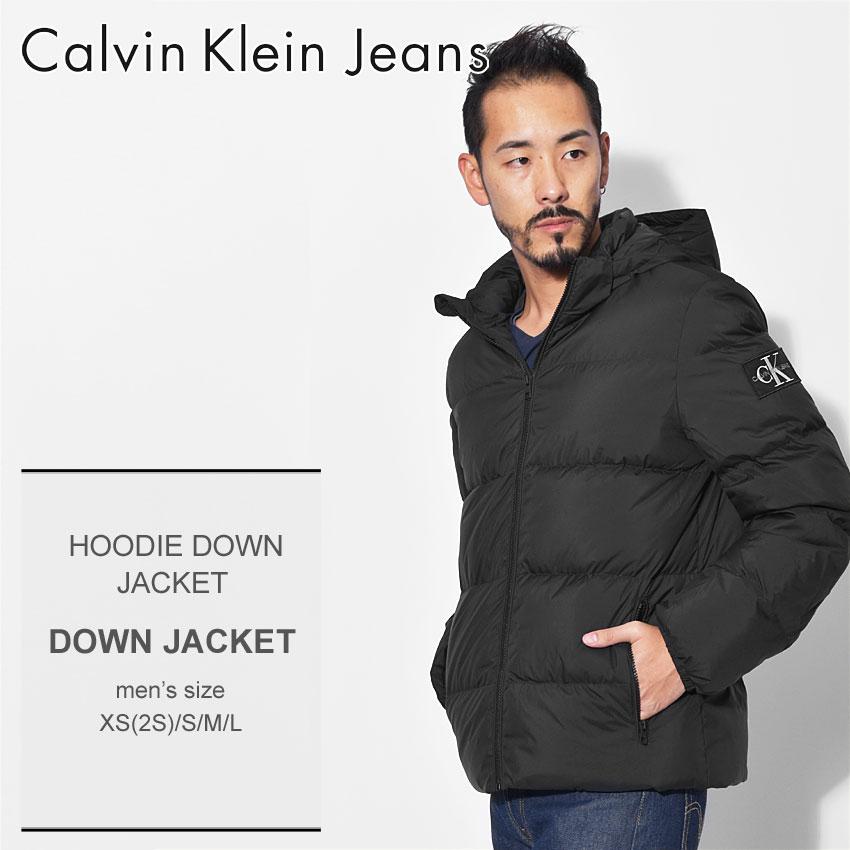 送料無料 CALVIN KLEIN JEANS カルバンクラインジーンズ ダウンジャケット ブラックフーディー ダウンジャケット HOODIE DOWN JACKETJ30J309487 099 メンズ