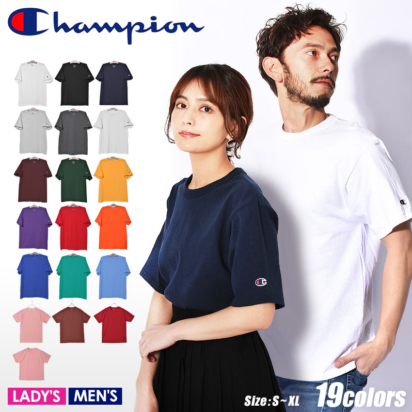 0552bb174 The size logo embroidery Shin pull short sleeves brand sports outdoor where  a CHAMPION champion T