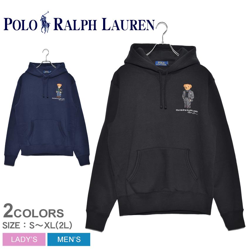 POLO RALPH LAUREN ポロ ラルフローレン パーカー ポロベア プルオーバーパーカー 710766807 メンズ レディース コットン カジュアル トップス ウェア 部屋着 プリント ブランド 長袖 クマ 黒 フード