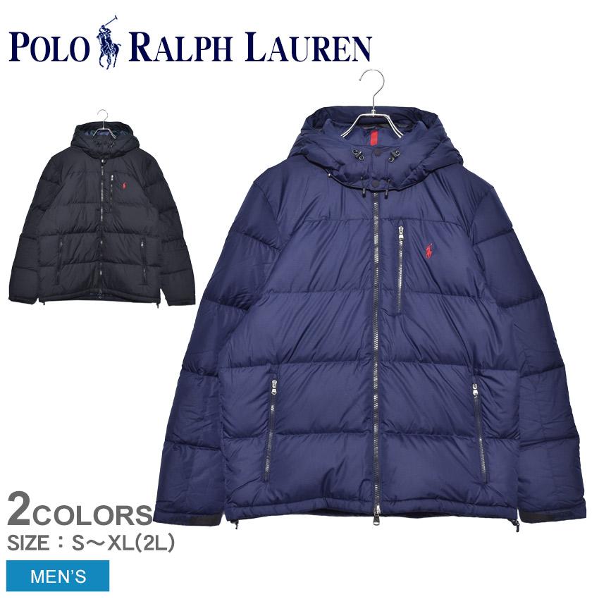 POLO RALPH LAUREN ポロ ラルフローレン ダウンジャケット ワンポイント ダウンジャケット 710758733 メンズ ブランド ダウン アウター タウンユース アウトドア シンプル 保温 上着 防寒 羽織り 黒 刺繍