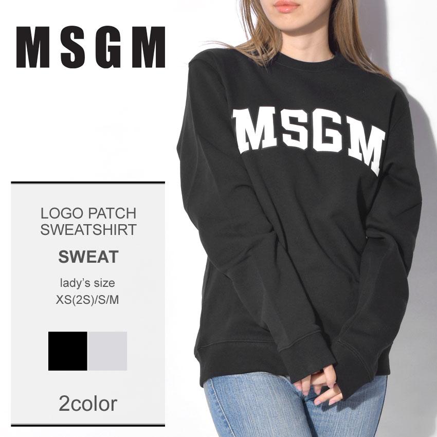 MSGM エムエスジーエム スウェットロゴパッチ スウェットシャツ LOGO PATCH SWEATSHIRT2541MDM163 99 94 レディース