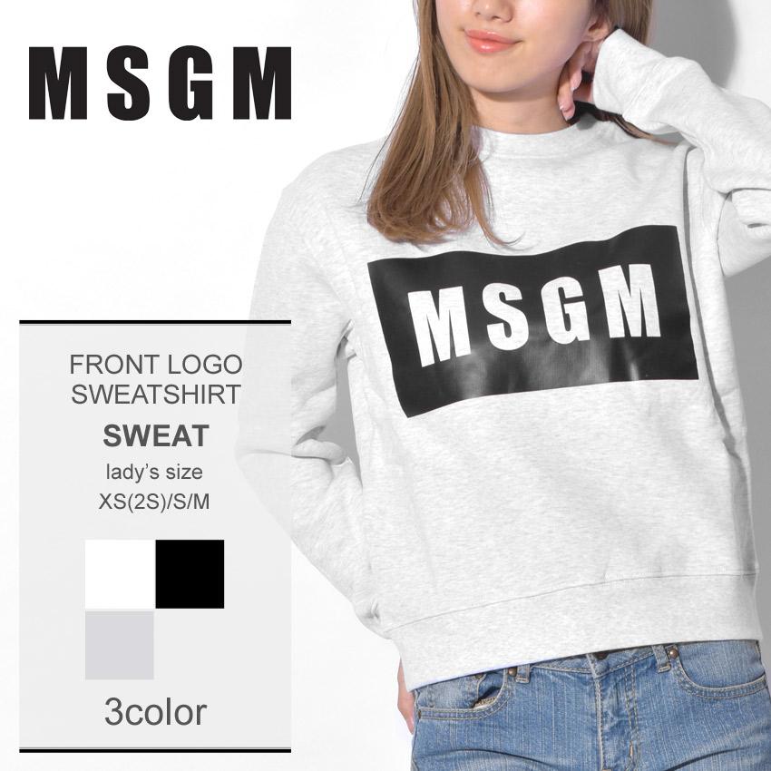 MSGM エムエスジーエム スウェットフロントロゴ スウェットシャツ FRONT LOGO SWEATSHIRT2541MDM96 01 99 94 レディース アウトドア
