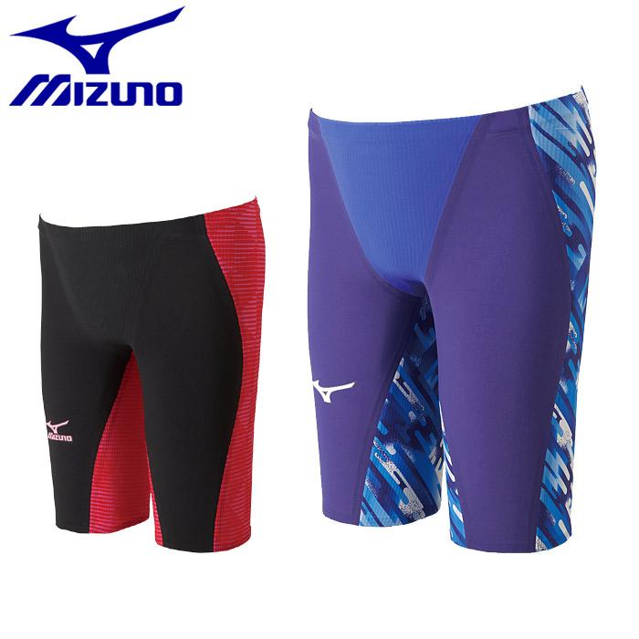 送料無料 ミズノ 競泳 水着 GX SONIC3 MR ハーフスパッツ(MIZUNO GX SONICIII MR N2MB6002)スイムウェア 水泳 プール スイミング マルチレーサー FINA承認 青 黒 赤メンズ 男性