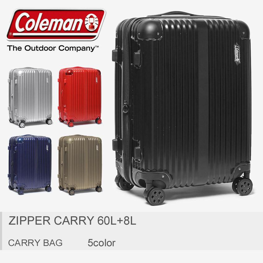 送料無料 coleman コールマン キャリーバッグ ジッパーキャリー 60L+8L 全5色14-55 00 06 20 40 32 ZIPPER CARRY 60L+8Lメンズ レディース [大型荷物]