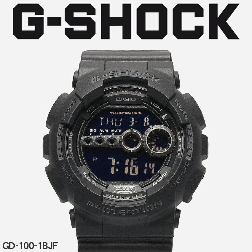 【お取り寄せ商品】 送料無料 G-SHOCK ジーショック CASIO カシオ 小物 腕時計 ブラックGD-100GD-100-1BJF メンズ 【メーカー正規保証1年】 [11mr] 【ラッピング対象外】