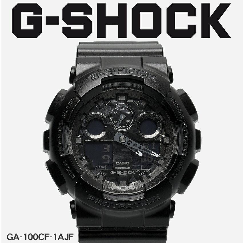 【お取り寄せ商品】 送料無料 G-SHOCK ジーショック CASIO カシオ 小物 腕時計 ブラックカモフラージュダイアルシリーズ CAMOUFLAGE DIAL SERIESGA-100CF-1AJF メンズ 【メーカー正規保証1年】 [11mr] 【ラッピング対象外】
