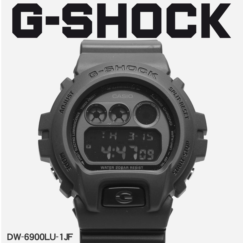 【お取り寄せ商品】 送料無料 G-SHOCK ジーショック CASIO カシオ 小物 腕時計 ブラックDW-6900DW-6900LU-1JF メンズ 【メーカー正規保証1年】 【ラッピング対象外】