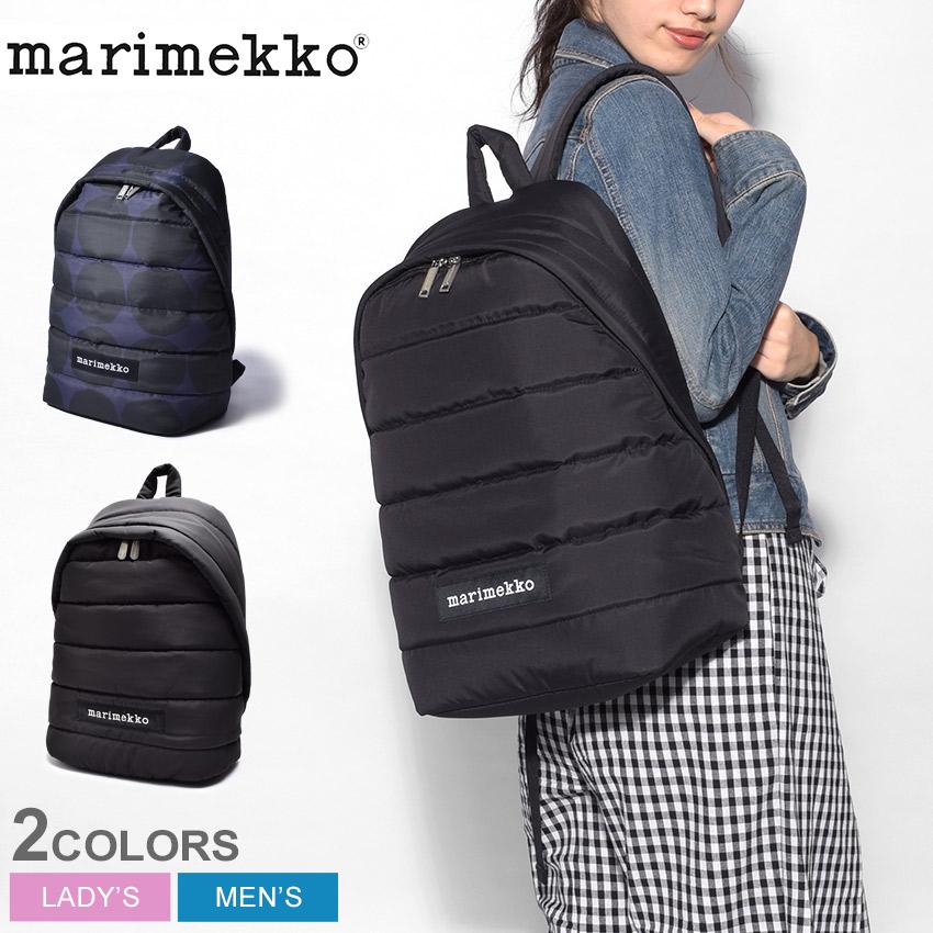 MARIMEKKO マリメッコ バックパック ブラックローリー バックパック LOLLY BACKPACK45486 009 レディース