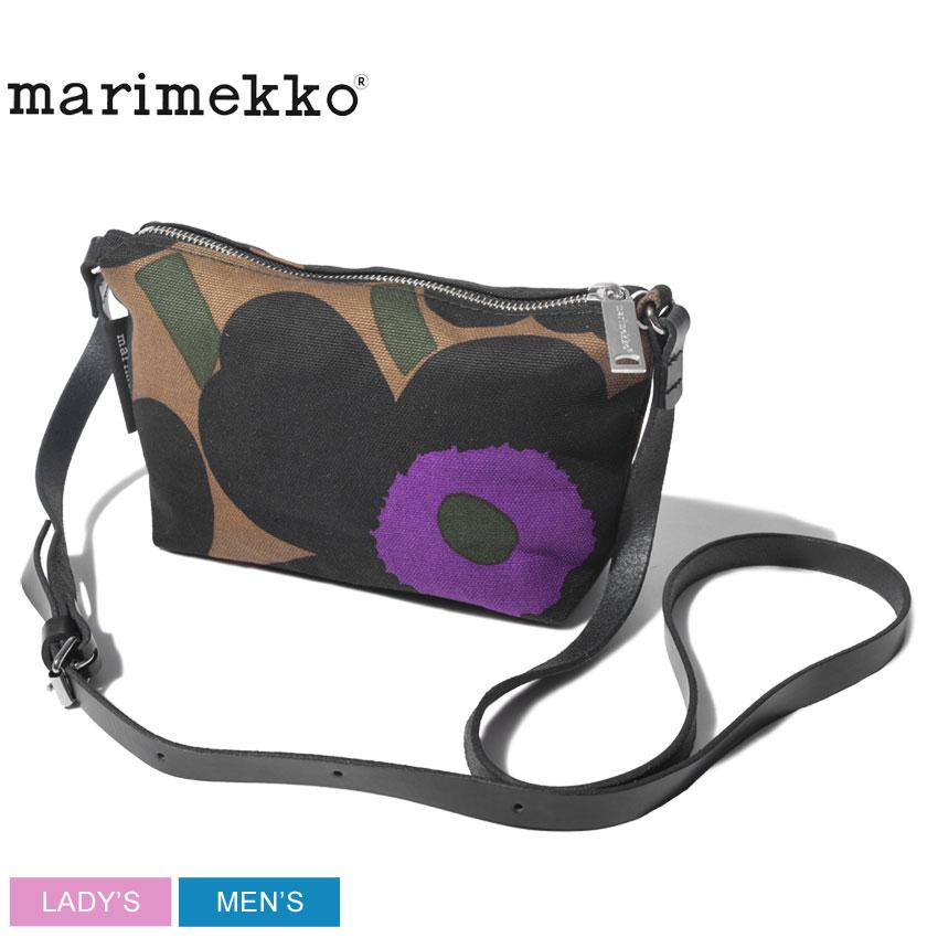 【メール便可】 MARIMEKKO マリメッコ ショルダーバッグ ブラウン ヘリ ピエニウニッコ ショルダーバッグ HELI PIENIUNIKKO SHOULDER BAG 46695 894 メンズ レディース かばん カバン 鞄 バッグ 肩掛け カジュアル 花柄 黒