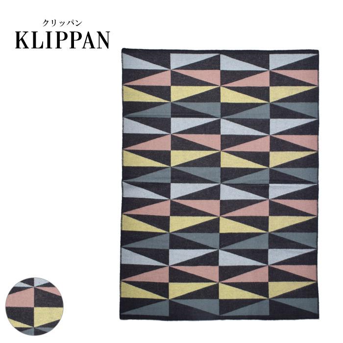 KLIPPAN クリッパン アートデコ マルチ ブランケット 2268 ART DECO MULTI BLANKET 幾何学 ウール 北欧 雑貨 かわいい おしゃれ あったか ソファカバー ベッドスプレット インテリア 冷房対策 ギフト プレゼント