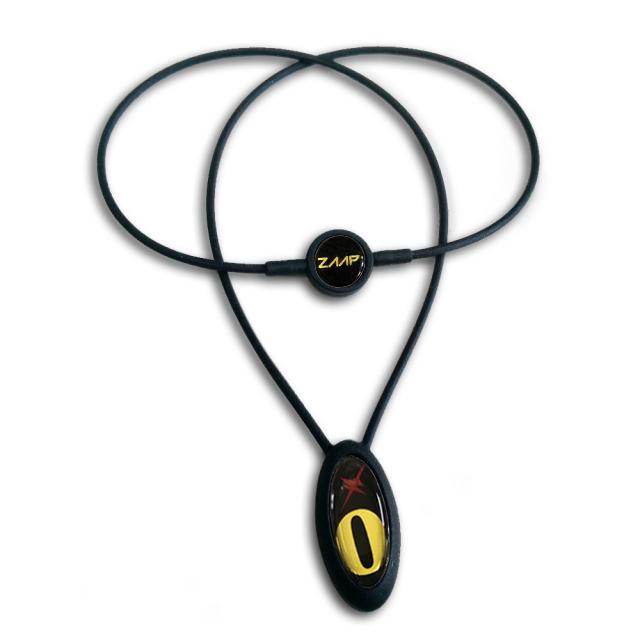 電磁波防止【医療機器シリコンネックレス】[ZAAP/ザップ]ナンバープレミアムネックレス/BLACKゴールド/No.0