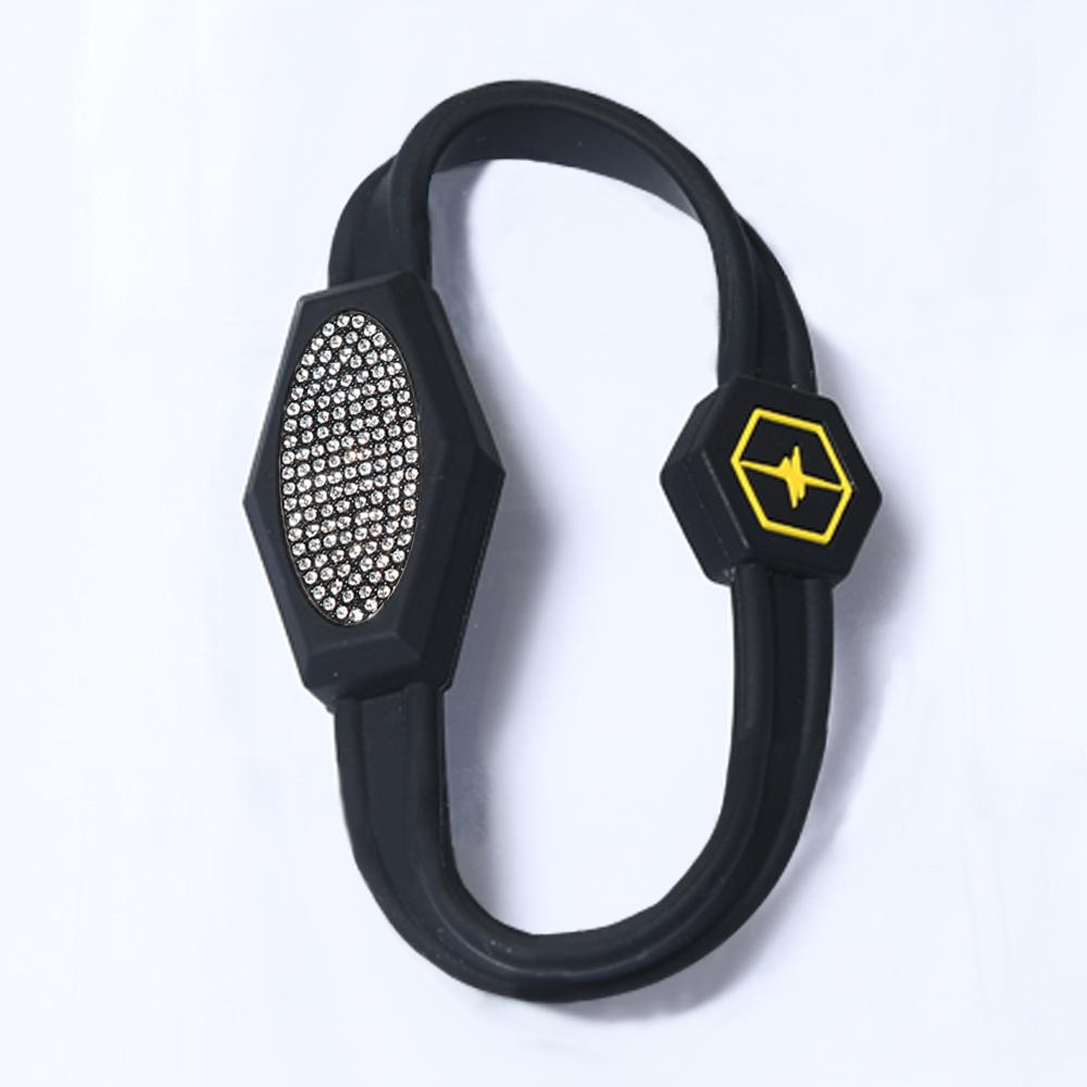 医療機器健康ネックレス 現代人が向き合わなけらばならない電磁波から身を守り本来の身体に戻します アウトレット☆送料無料 電磁波対策 芸能人 アスリート多数愛用 ZAAP ザップ PREMIUM_BRACELET プレミアムブレスレット-S BLACK×BLACK スワロフスキー 売却 SWAROVSKI ブラック×ブラック