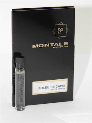 モンタル 香水 お試しチューブサンプル ソレイユ 送料無料 ドゥ カプリ お買い得 オードパルファン 2ml Montale With Card De Sample Soleil New Capri EDP Vial