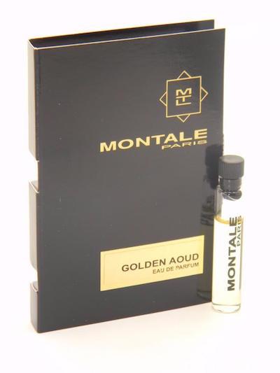 モンタル EDP 出群 香水 お試しチューブサンプル ゴールデン ウード オードパルファン 2ml 新発売 Montale Eau Aoud Golden With De Vial Parfum Card Sample