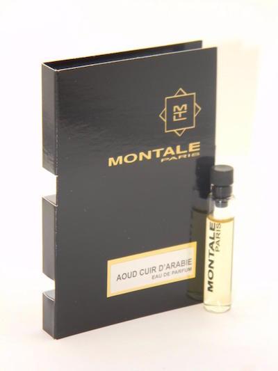 モンタル 大決算セール EDP 香水 お試しチューブサンプル ウード 限定モデル キュイール ドレビー オードパルファン 2ml Montale Sample With Cuir De Parfum Card Eau D'Arabie Aoud Vial