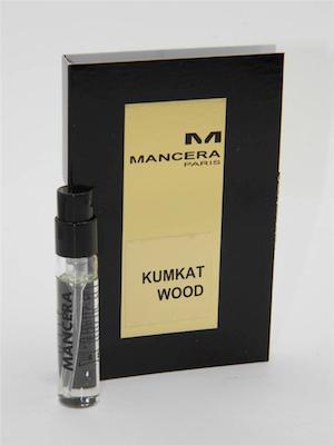 海外輸入 マンセラ 香水 お試しチューブサンプル 送料無料 カムカットウッド <セール&特集> オードパルファン 2ml Mancera With Wood Sample Card EDP Kumkat Vial New