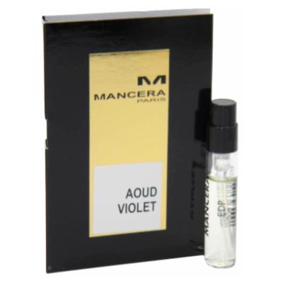 マンセラ 香水 お試しチューブサンプル 送料無料 買収 ウードバイオレット オードパルファン 2ml Mancera Violet 安心の定価販売 New With Vial Card Aoud EDP Sample