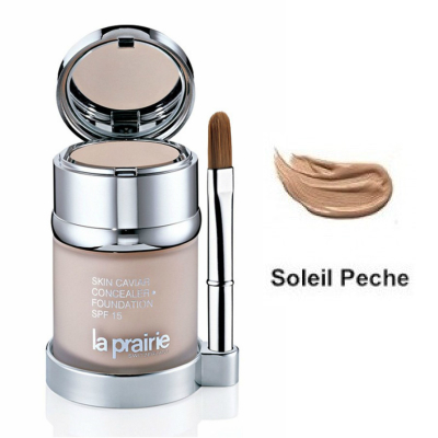 ラ プレリー スキン キャビア コンシーラー ファンデーション SPF15 ソレイユ ペッシュ【La Prairie Skin Caviar Concealer Foundation SPF15 Soleil Peche】
