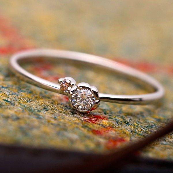 ダイヤモンド リング ダイヤ ピンクダイヤ 合計0 06ct 11号 プラチナ Pt950 花 フラワーモチーフ 指輪 ダイヤリング 鑑別カード付きtdrxhQCs