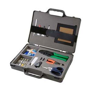 オフィス用品 工具 サンワサプライ 光ファイバ自作工具セット(LC・SC両用) HKB-TLSET2