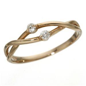 雑誌で紹介された K18PGインフィニティダイヤリング 指輪 9号, タックオンライン b3f159bd