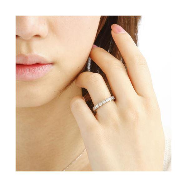 プラチナPt9001ctフルエタニティダイヤリング 指輪 ペアリング 7号l1TFJKcu3