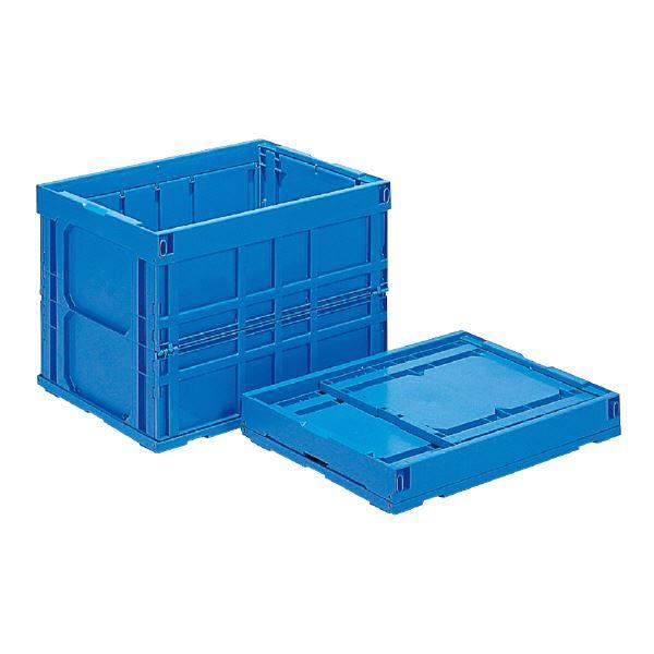 (業務用5個セット)三甲(サンコー) 折りたたみコンテナボックス/オリコン 【123L】 120B ブルー(青) 【代引不可】