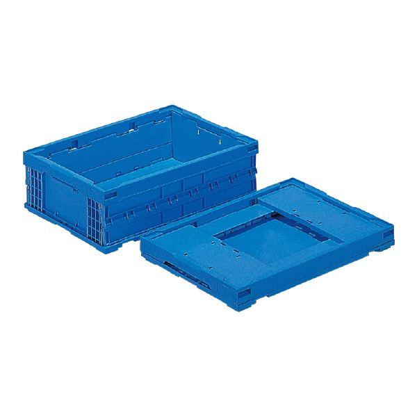 (業務用5個セット)三甲(サンコー) 折りたたみコンテナボックス/オリコン 【29L】 P29B-D ブルー(青) 【フタ別売り】【代引不可】