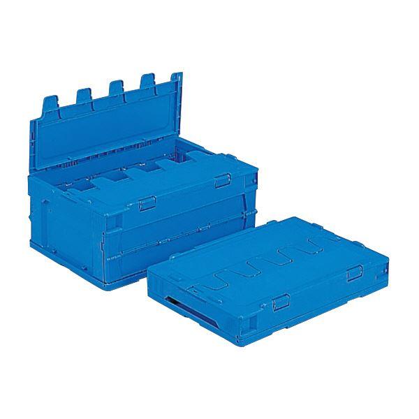 <title>折り畳み式で収納にも便利な蓋付きコンテナBOX セール品 収納容器 まとめ 三甲 サンコー 折りたたみコンテナボックス サンクレットオリコン フタ付き P31B ブルー 青 ×10セット 代引不可</title>