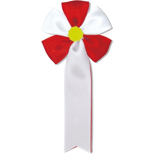 (まとめ)アーテック 胸章リボン(五方) レッド(赤) 【×60セット】