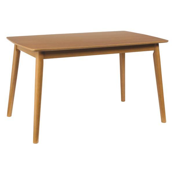 ダイニングテーブル/リビングテーブル 【長方形】 木製/アッシュ材突板 幅120cm 木目調 北欧風  ナチュラル【代引不可】