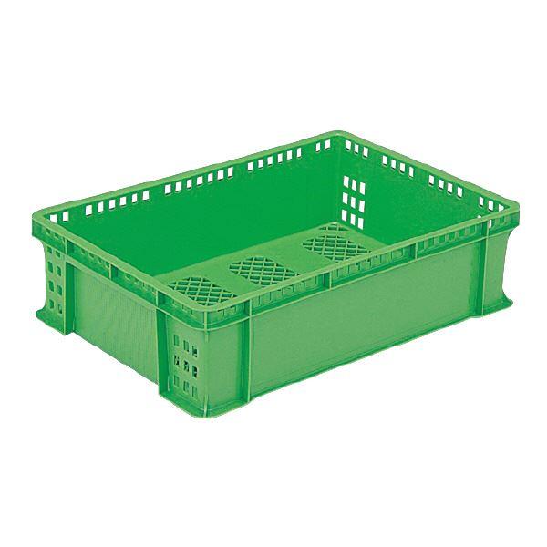 (業務用10個セット)三甲(サンコー) 全面網目コンテナボックス/サンテナー スタッキング可 PK-30 グリーン(緑) 【代引不可】