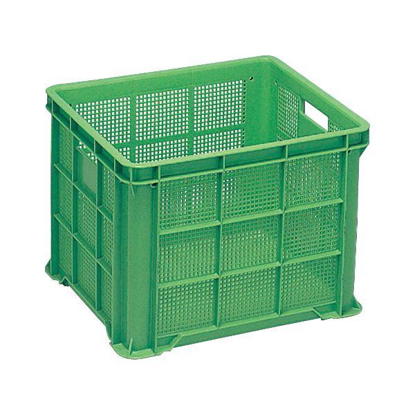 (業務用6個セット)三甲(サンコー) 全面網目コンテナボックス/サンテナー スタッキング可 B61 グリーン(緑) 【代引不可】