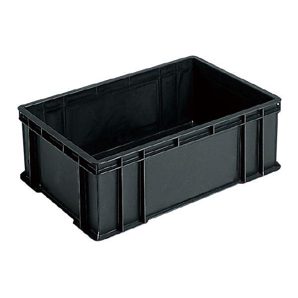 (業務用5個セット)三甲(サンコー) ベタ目コンテナボックス/サンボックス 導電性PP 56B ブラック(黒) 【代引不可】