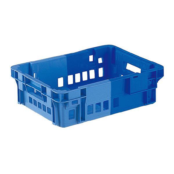 スタッキング 積上げ ネスティング 収納 両用アミ目コンテナBOX まとめ 三甲 サンコー ブルー×ライトブルー 代引不可 Cタイプ 流行のアイテム ×10セット 高額売筋 #11CP SNコンテナ 2色コンテナボックス