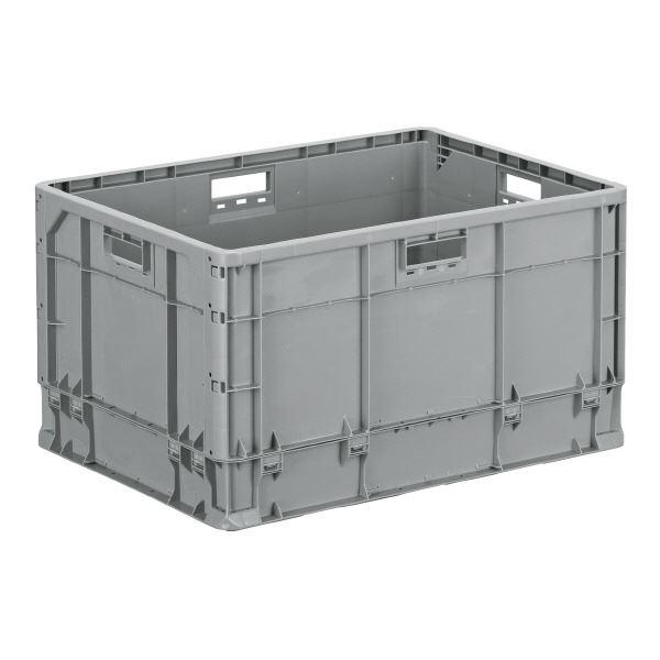 大型段プラボックス代替に クミコン 大型コンテナBOX 収納容器 まとめ 三甲 サンコー ベタ目コンテナボックス 軽量 訳あり ×3セット 大型 TP規格対応 フタ別売り 売り込み ライトグレー TP464LJ 代引不可