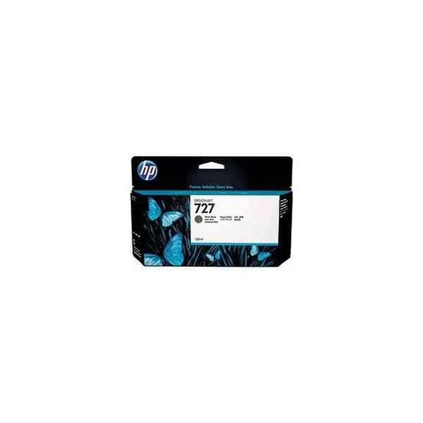 (まとめ)HP HP727 インクカートリッジ顔料マットブラック 130ml B3P22A 1個【×3セット】