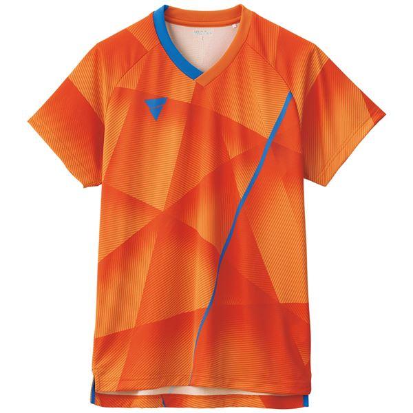 VICTAS(ヴィクタス) 卓球ゲームシャツ V-NGS200 男女兼用 オレンジ XL