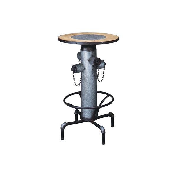 昇降式 カウンターテーブル/サイドテーブル 【幅62cm】 スチール 木製 〔リビング ダイニング 店舗 オフィス〕【代引不可】