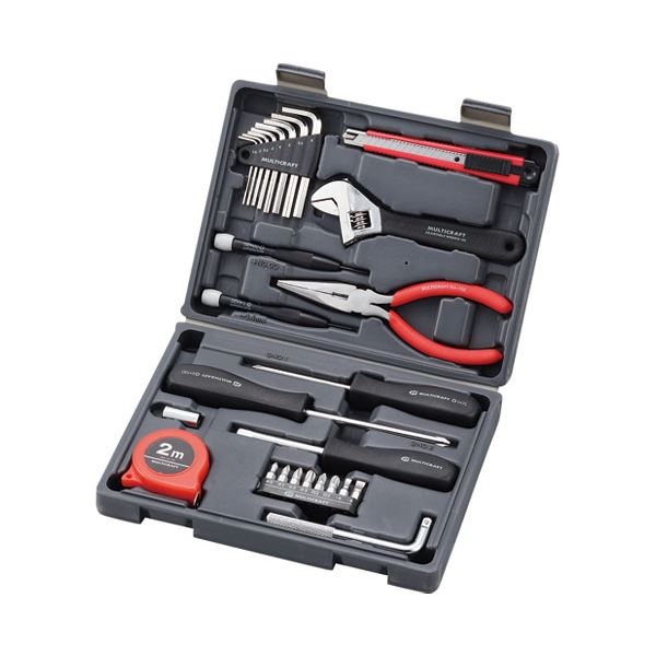 (まとめ) 角利産業 ブック型工具セットB5 MBK-27【×3セット】