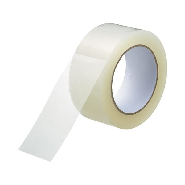 まとめ スマートバリュー 透明梱包用テープ48mm 100m 5巻 直輸入品激安 B385J ×10セット 未使用品